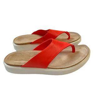 ECCO Orange Corksphere Thong Flip-Flop Size 9